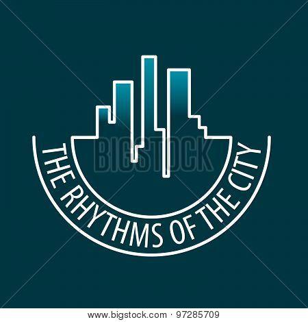 Vector Logo Rhythms Of The City At Night