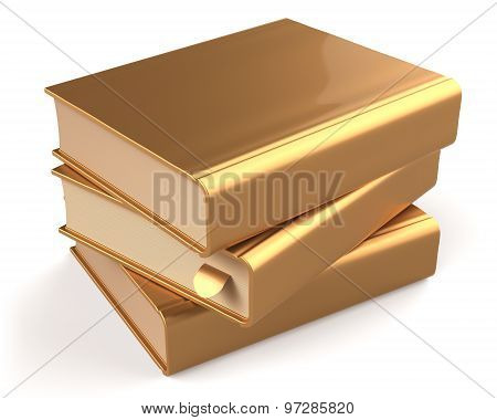 Books Gold Blank Yellow Golden Textbooks Stack Shiny Icon