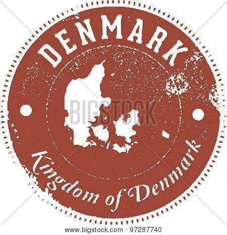 Denmark European Country Stamp