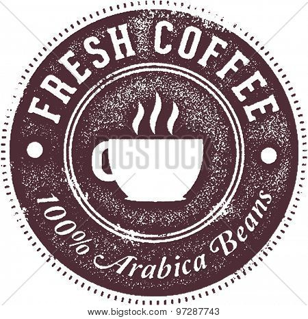 Fresh Hot Coffee Menu Stamp
