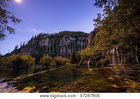 Hanging Lake At Night