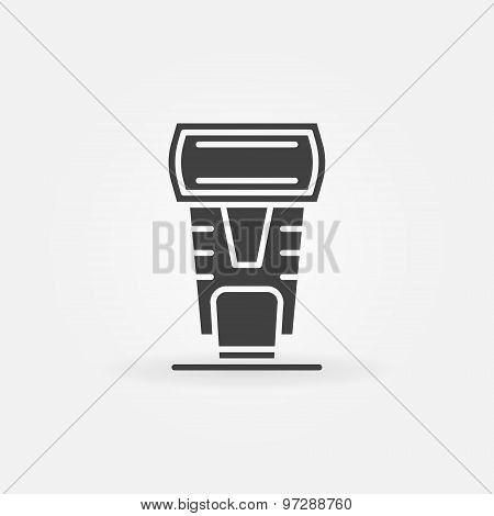 Photo camera flash icon
