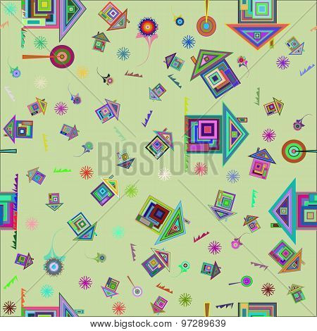 Colorful home background pattern.
