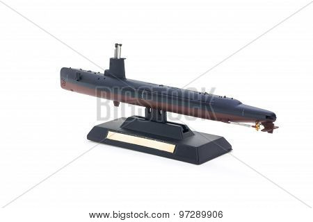 submarine model toy isolated on white