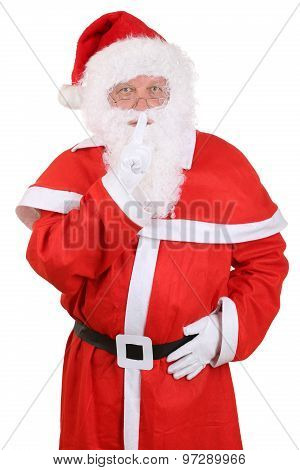 Santa Claus On Christmas Having Secret Isolated