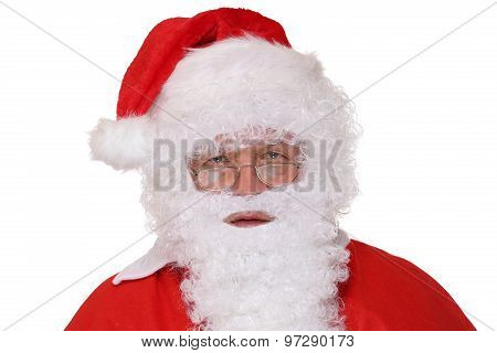 Santa Claus Christmas Portrait Isolated