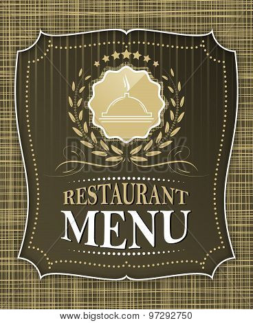 Restaurant menu cover design in vintage style