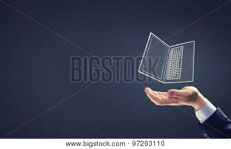 Presenting laptop