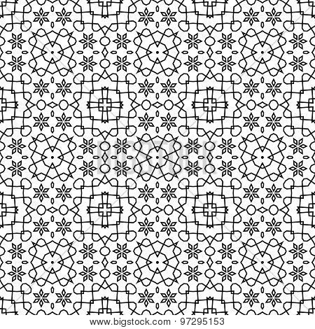 Abstract Seamless Geometric Islamic Wallpaper.