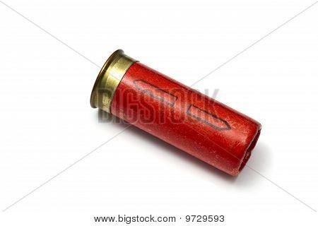 Shotgun Bullet Isolated On White