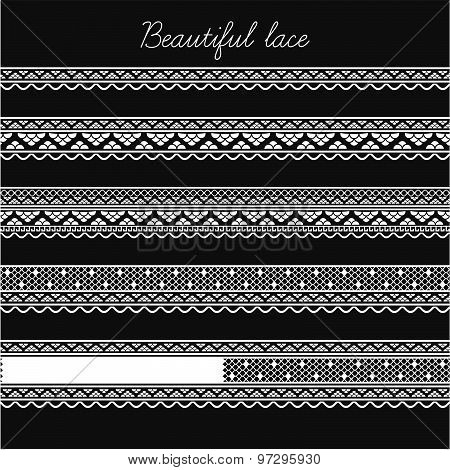 Beautiful lace segments for scrapbooking, card decoration etc