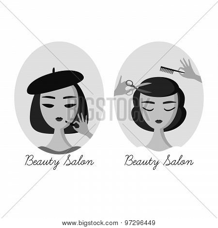 Women in beauty salon banner