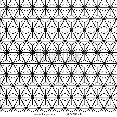 Black and white seamless pattern with triangles