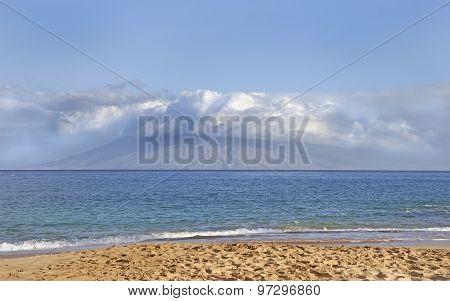 View From Makena Beach Maui, Hawaii