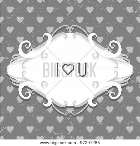 Vintage style Valentine's day card design