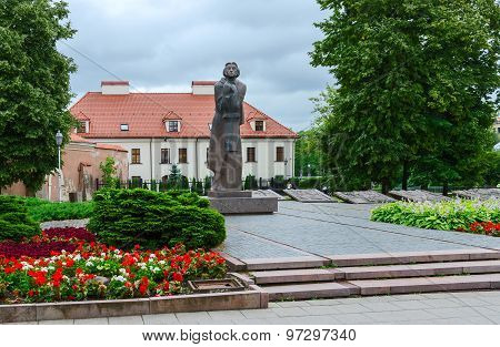 Monument To Adam Mickiewicz, Vilnius, Lithuania