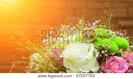 Wedding Ring With Flowers