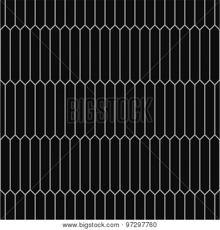Seamless monochrome pattern of picket tiles