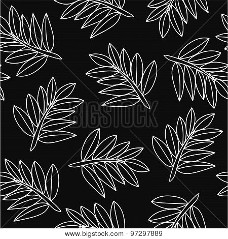 Hand drawn branches seamless pattern