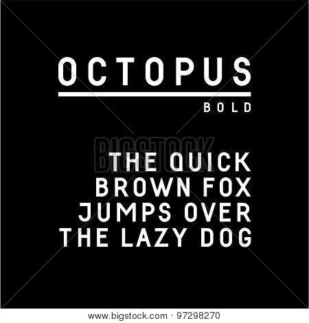 Trendy sans serif font in uppercase