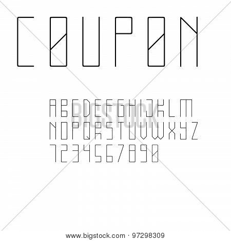 Minimalistic style sans serif font