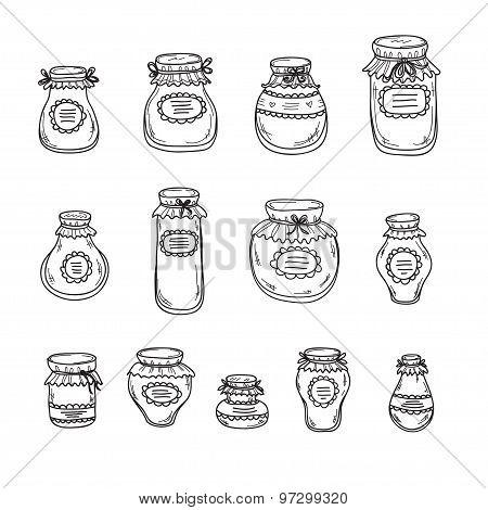 Hand Drawn Jars