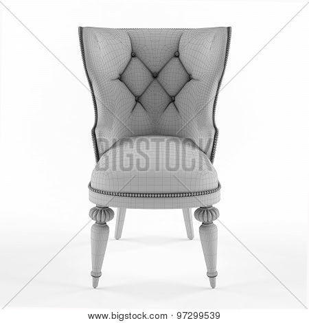 Mesh of modern chair