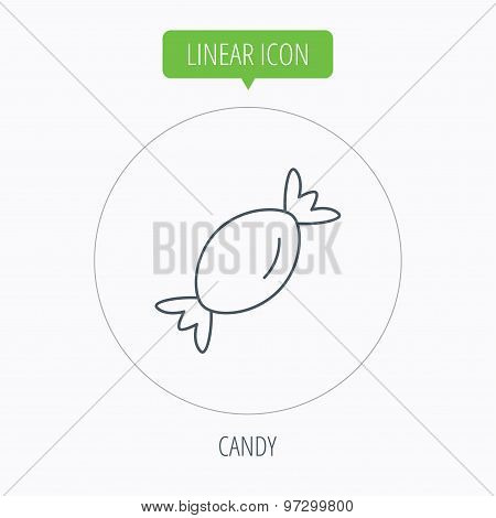 Candy icon. Sweet sugar lollipop sign.