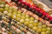 Strings Of Beads Make Cool Pattern poster
