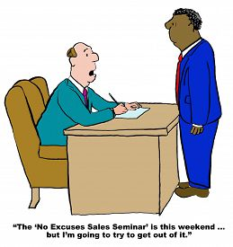 picture of going out business sale  - Business cartoon showing two businessmen talking - JPG