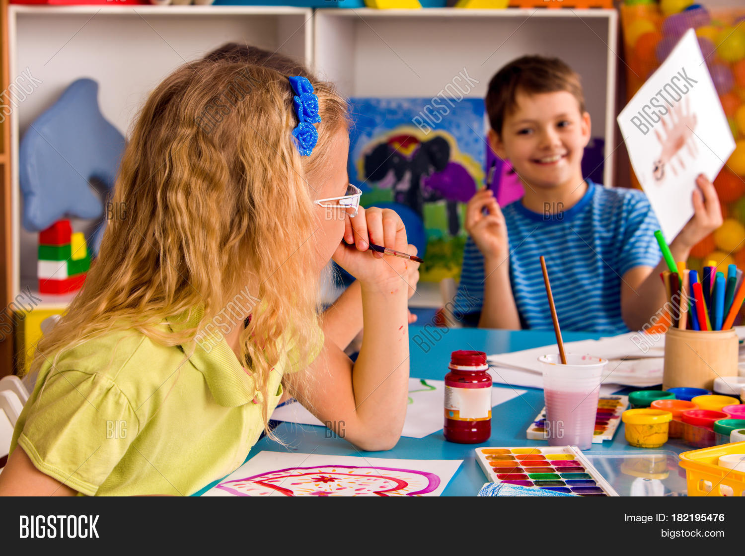 small students boy painting image u0026 photo bigstock