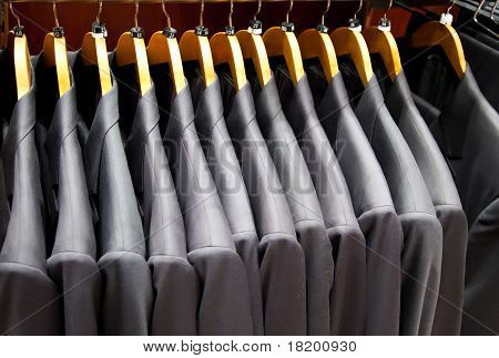 Men Suits In Row
