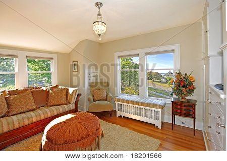Luxury Bright Room With Sofas