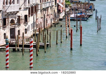 Gondola Landing Places, Canale Grande, Venice, Italy