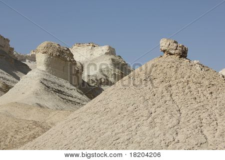 Sodom limestone cliffs in Israel