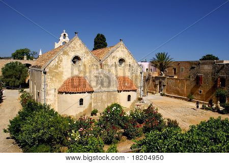 Moni Arkadiou monastery at Crete, Greece