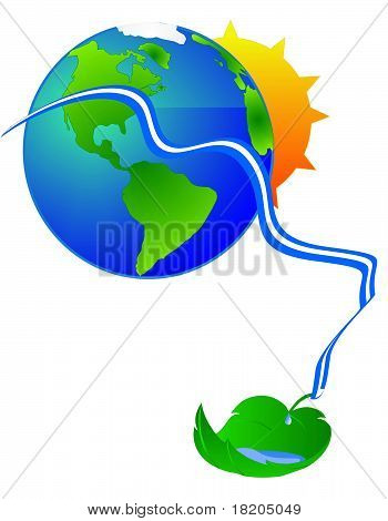 Renewable resourses from the sun and earth..