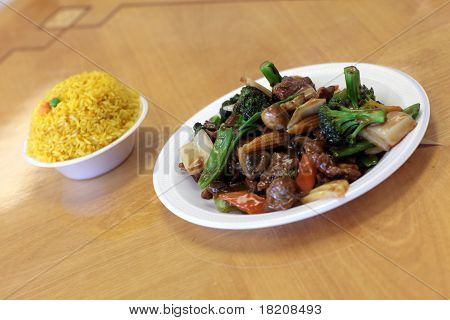 Chinese Salad And Rice