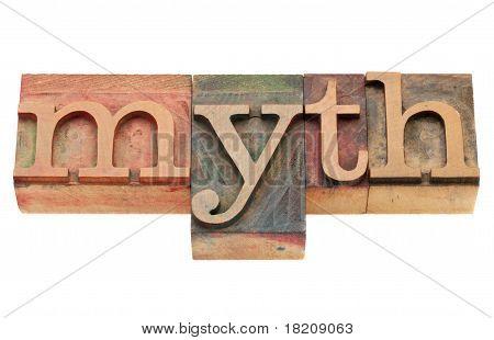 Mito en tipografía tipo