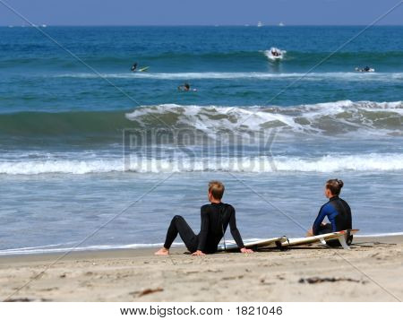 Surfers Take A Rest