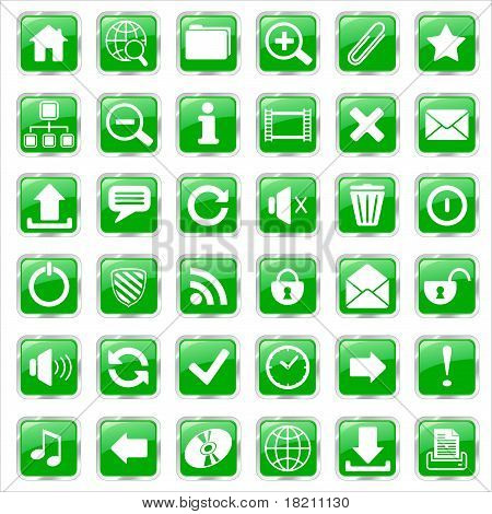 web icons green