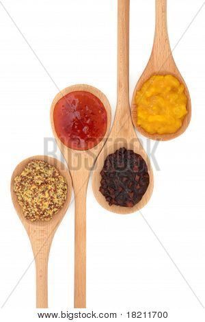 Mustard, Pickle And Sauce Selection