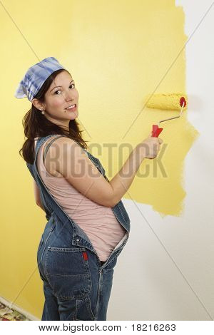 Pregnant Woman Painting