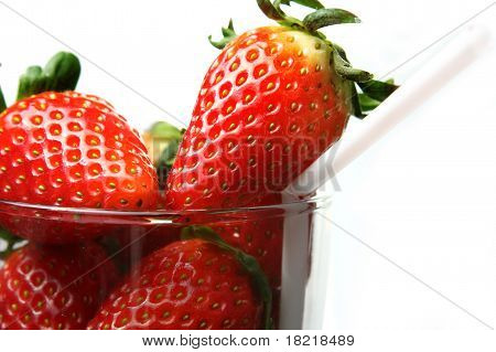 Stawberry In Glass