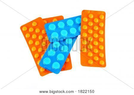 Blue And Orange Tablets