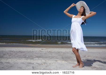 Beautiful Woman At Seaside
