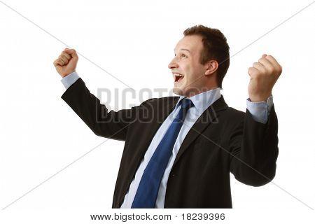 A happy businessman