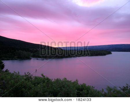 Sunrise Over Lake St. Mary