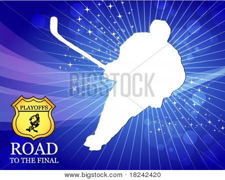 hockey player - playoff vector poster