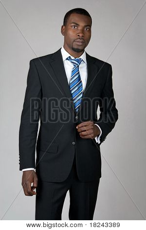 Gentleman Wearing Suit And Tie